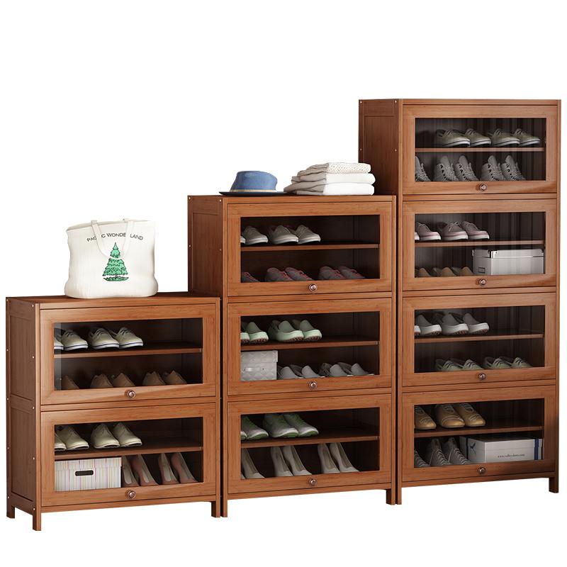 鞋架门口置物架防尘实木家用经济型室内好看楼道简易鞋柜收纳神器