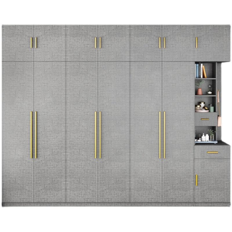 北欧衣柜简约现代经济型组装移动布纹卧室柜子实木质组合简易衣橱