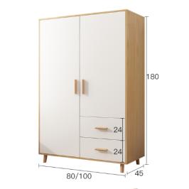 衣柜家用卧室简约现代小户型实木质储物柜简易儿童出租房用大衣橱