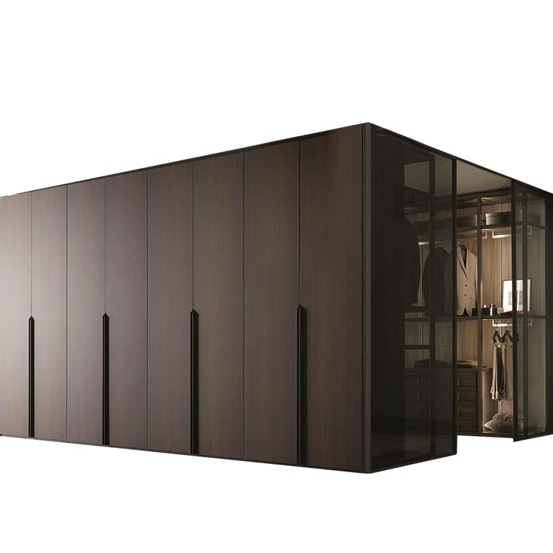 现代简约轻奢风衣柜实木整体组合定做卧室衣橱衣帽间全屋定制家具