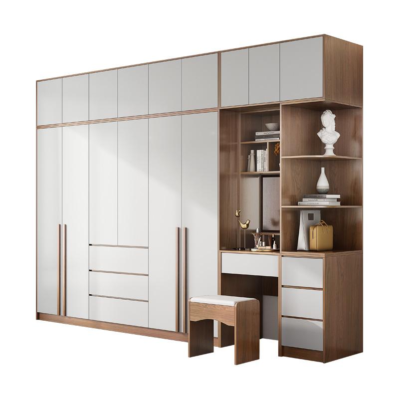 北欧衣柜家用卧室经济型柜子简约现代小户型出租房用实木质大衣橱
