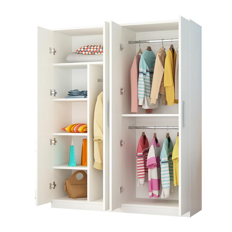 简易衣柜现代简约经济型小户型实木板式出租房用家用卧室收纳柜子