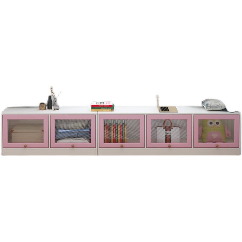新品窗台柜卧室飘窗柜阳台柜储物落地柜可坐收纳柜置物架矮柜组合