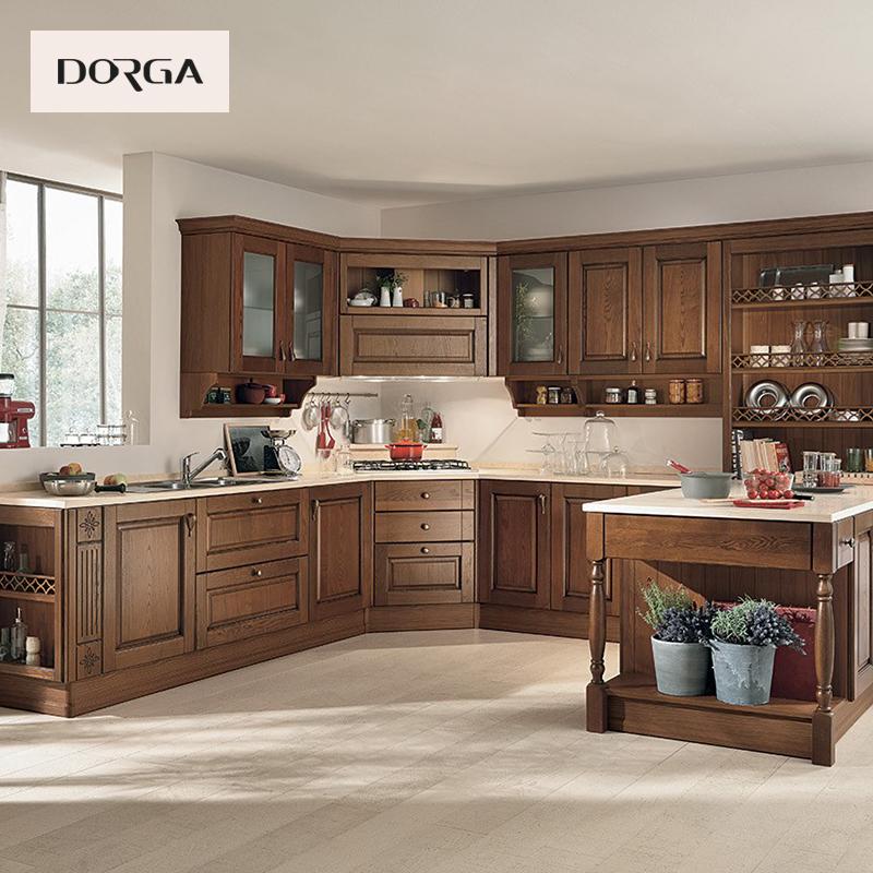 成都 整体实木橱柜定制北欧设计厨房厨柜定做开放式全屋家具订做