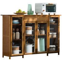 木马人餐边柜酒柜厨房储物茶水边柜置物碗橱柜非实木现代简约窄型