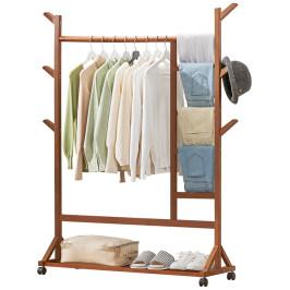 木马人挂衣架子落地卧室衣帽架置物简易晾衣服室内家用非实木网红