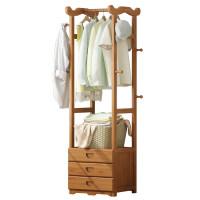 简易衣帽架实木卧室挂衣架简约现代多功能家用衣架落地衣服置物架