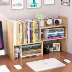 办公室桌面书架收纳架简易多层书桌上小学生用儿童伸缩置物架简约