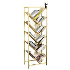 铁艺轻奢多层书架置物架简易收纳简约落地学生书柜创意树形书架子