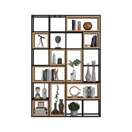 北欧铁艺书架置物架客厅落地简约收纳架子办公室多层现代创意书架