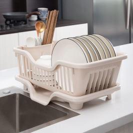 厨房置物架放碗筷收纳盒装碗碟盘家用碗架沥水架台面碗柜收纳架子