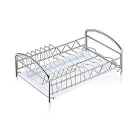 304不锈钢碗碟架厨房单层水槽沥水碗架 橱柜内置放碗盘收纳置物架