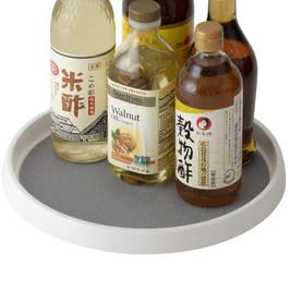 懒角落 厨房调料品架子可旋转托盘油盐酱醋桌面置物盘收纳盘