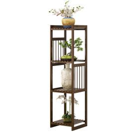 花架子阳台客厅室内家用多层落地式单个实木质简约窗台吊兰置物架