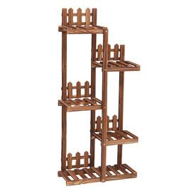 简约实木制花架子阳台客厅多层阶梯式落地花盆架可移动绿萝多肉架