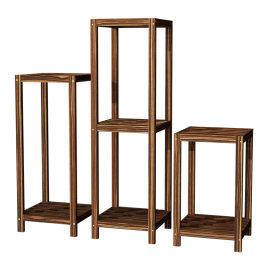 中式花架简约独立花架子室内阳台客厅单个木制吊兰绿萝组合花盆架