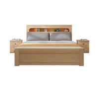 实木床1.8米现代简约主卧储物双人床1.5经济型家用欧式木床单人床