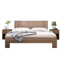 实木床现代简约单人出租房用双人大床主卧1.5米经济型简易1.8床架
