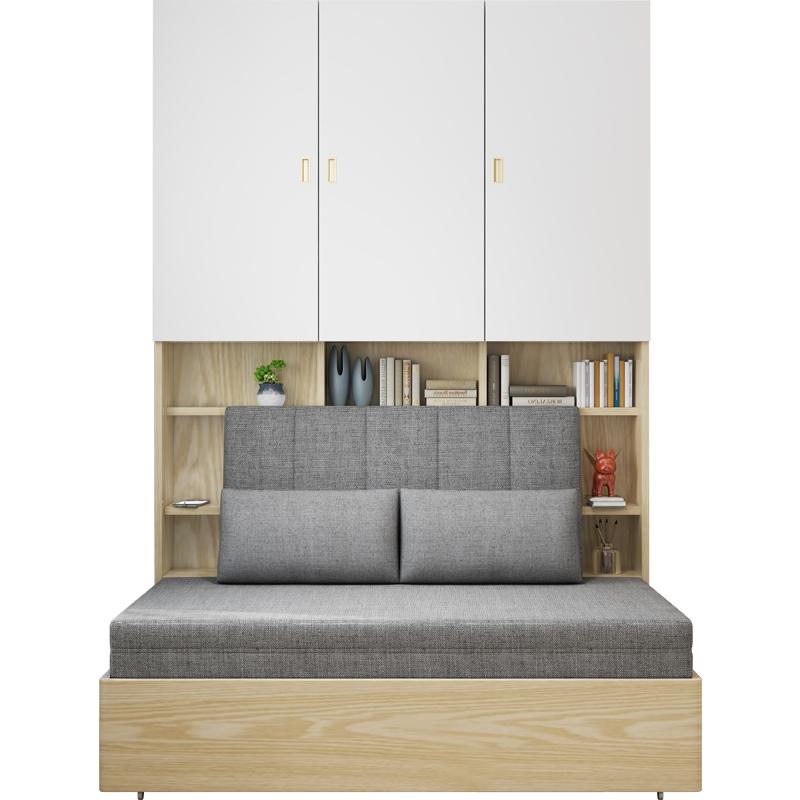 沙发床双人小户型客厅两用多功能省空间储物组合书柜书房折叠床