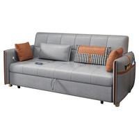 科技布沙发床两用可折叠客厅多功能双人大小户型网红款贵妃抽拉式