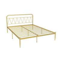 欧式现代简约公主铁艺床铁架钢架双人单人成人儿童1.2 1.5 1.8米