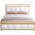 铁艺床简约现代1.8米双人床欧式1.5米轻奢软包铁床1.2m单人铁架床