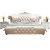 欧式真皮床双人床主卧豪华高档实木1.8米白色公主床现代简约婚床