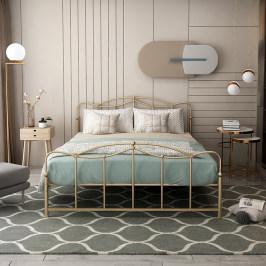北欧网红ins床铁艺床1.5米欧式轻奢双人床少女单人床铁床铁架床