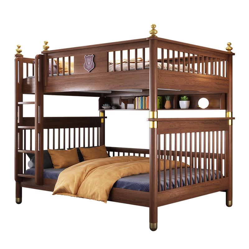全实木多功能组合高低床男女孩上下铺木床小户型子母床双层成人床