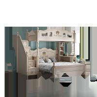 儿童交错式上下床双层床实木高低子母床错位双人上下铺大人小户型