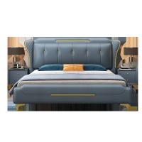 北欧轻奢免洗科技布床1.8米双人床1.5米软靠现代简约主卧布艺婚床
