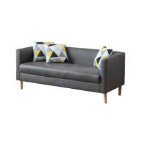 免洗科技布艺沙发小户型双人三人客厅卧室出租房公寓简易北欧现代