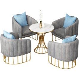 轻奢沙发茶几组合北欧办公室酒店大厅休息区会客商务接待洽谈桌椅