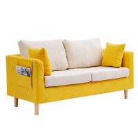 沙发小户型北欧简约现代服装店出租房双三人网红简易布艺客厅沙发
