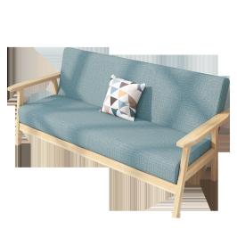 沙发北欧简约现代布艺客厅小户型实木单人椅子卧室双人简易出租房