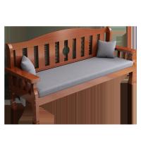 实木沙发组合全实木新中式木质长椅冬夏两用小户型客厅三人木沙发
