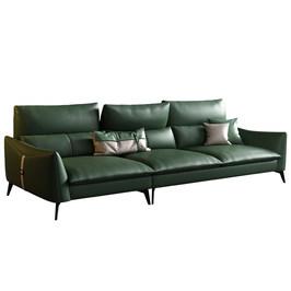 美柏轻奢真皮转角沙发大小户型头层牛皮家具组合意式极简三人沙发