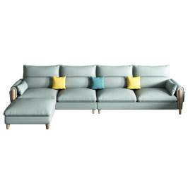 北欧现代简约三人位真皮沙发小户型客厅意式皮沙发组合套装家具