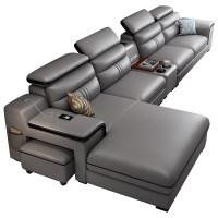 真皮沙发头层牛皮现代简约客厅小户型极简轻奢智能皮沙发组合套装