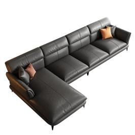 现代轻奢真皮沙发客厅意式极简沙发组合家具家居小户型简欧风格