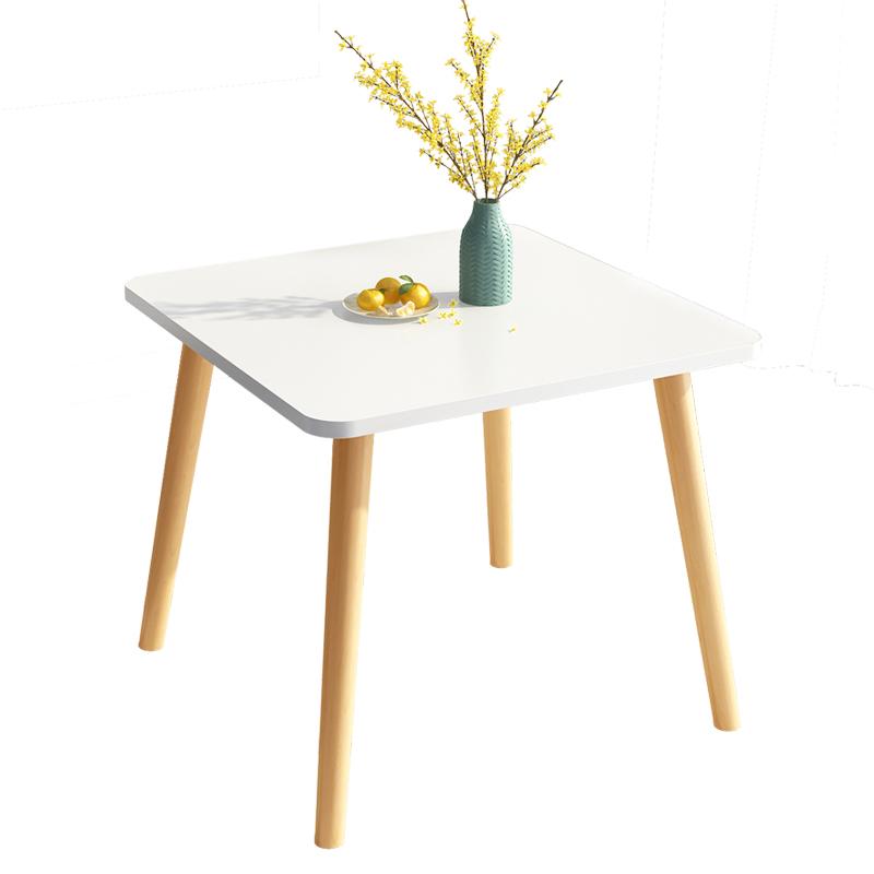 北欧餐桌小户型现代简约小桌子实木腿饭桌圆桌客厅家用餐桌椅组合