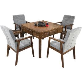 实木麻将机餐桌一体电动多功能机麻全自动家用中式麻将桌两用静音
