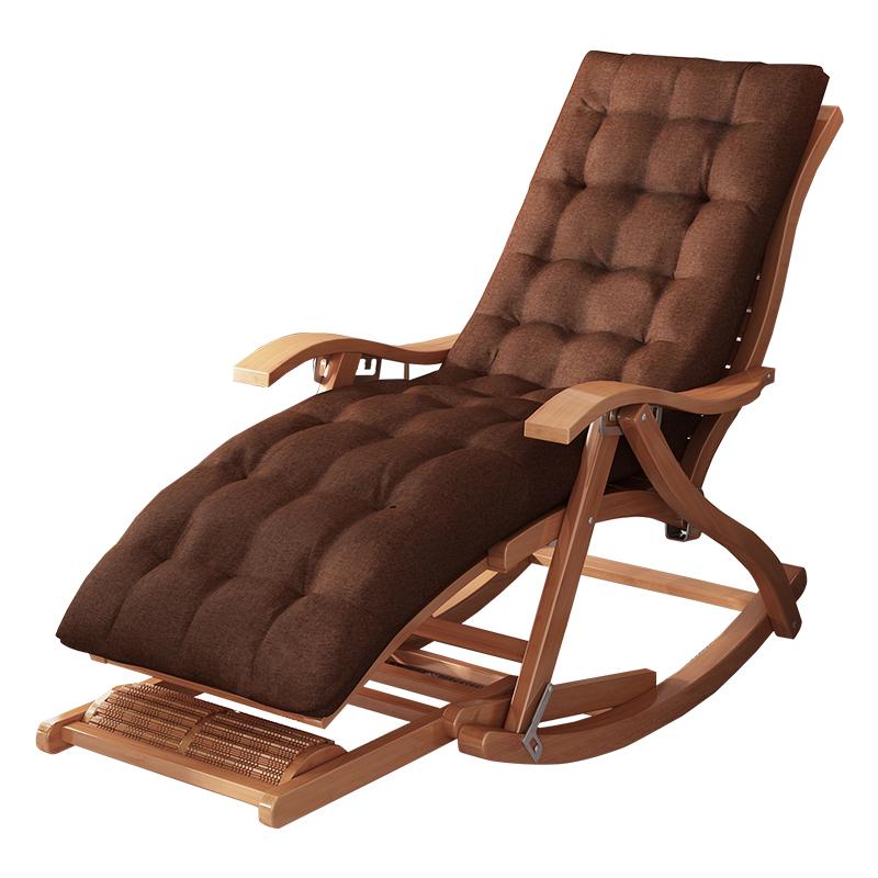 竹子摇摇椅阳台家用休闲躺椅折叠大人懒人夏季老人午睡客厅逍遥椅