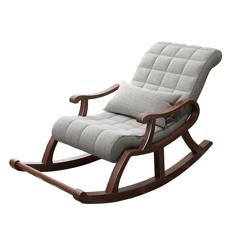 北欧实木摇椅懒人休闲摇摇椅逍遥椅成人午睡椅躺椅阳台老人椅客厅