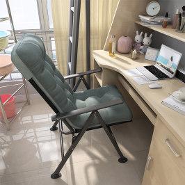 折叠躺椅午休午睡懒人家用休闲电脑椅学生宿舍单人椅阳台靠背椅子