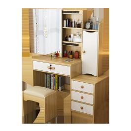 梳妆台收纳柜一体卧室现代简约网红风化妆台小型迷你镜子化妆桌子
