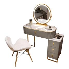 化妆桌小型卧室现代简约梳妆台高级感轻奢多功能收纳柜一体化妆台