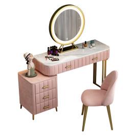 梳妆台卧室现代极简约收纳柜一体网红ins风主卧轻奢高级感化妆桌