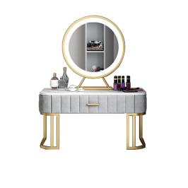 岩板飘窗梳妆台迷你型轻奢收纳柜卧室一体网红化妆桌现代简约组装