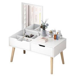 飘窗梳妆台卧室小户型简易坐地化妆桌子现代简约网红ins风化妆台